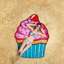 【送料無料】ビーチなどアウトドアで!可愛いデザインのレジャーマット ビーチブランケット カップケーキ BMT-BMBT-CC | 輸入 おしゃれ..