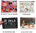 楽天キャラクター雑貨 プレッツェルアメリカBlueQ社のリサイクルバッグシリーズ 小物の収納に「ジッパーポーチ Bicycle」BL-QA234| 輸入 おしゃれ かわいい プレゼント pud255