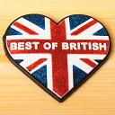 【LONDON SOUVENIR】ハートマグネット(ユニオンジャック) | 輸入 おしゃれ かわいい プレゼント グッズ 小物 インテリア ホビー ポップ pud380