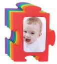 パズルフォトフレーム (レインボー) 485 写真立て フォトフレーム 6色セット 写真 カラフル インテリア ベビー 赤ちゃん 子供 ペット ..