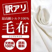 【あす楽】 最高級シルク100%毛布 シルク毛布 シルク100% 絹100% シングルサイズ 訳あり 冷え症 冷房 冷えとり 寝具 ひざかけ 布団 掛け布団 わけあり オールシーズン ブランケット 送料無料 ギフト 布 05P29Jul16