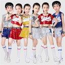110-160cmキッズ チアガール 衣装 セットアップ ジャズダンス 衣装 女の子 ダンスウェ