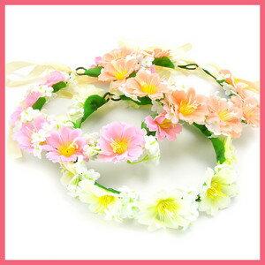 夏色の花かんむり(3色)イベント・ダンス・フラワー・花冠・ヘッドドレス・結婚式・ヘアアクセ・ウェディング