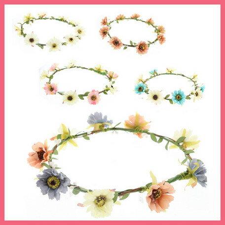 オールドローズの花かんむり(5色)イベント・ダンス・フラワー・花冠・ヘッドドレス・結婚式・ヘアアクセ・ウェディング