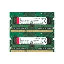 【メーカー取り寄せ】 キングストン 増設メモリ 8GB(4GB×2枚組) 1600MHz DDR3L Non-ECC CL11 SODIMM (Kit of 2) 1.35V KVR16LS11K2/8 製品寿命期間保証 Kingston