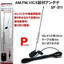 カーラジオ用AM/FM/VICS専用 貼付アンテナ SF-311 日本製