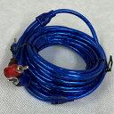 RCAケーブル RCAケーブル5m ブルーアルミコーティング Wシールドノイズに強いRPP-56BL