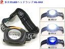 ライト 【点滅・青・白】 LEDヘッドランプ ヘッドライト ウォーキングライト HL-043【アウトドア】