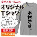 誕生日プレゼントにも!オリジナル文字入れ長袖Tシャツ名入れもOKキッズ110〜XLまで1枚から注文OKプレゼントに!送料無料