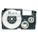 カシオ用 ネームランド 互換 テープカートリッジ XR-12WE ラベル【メール便可】 12mm/白テープ/黒文字
