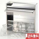 送料無料 日本製 ステンレス製 調味料入れ 3P3段タイプストッカー キッチン 収納 【smtb-F】