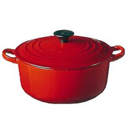 25% off!! Le Creuset pot roast Rondo and 18 cm (cherry red)