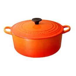 25% off!! Le Creuset pot roast Rondo and 20 cm (orange)