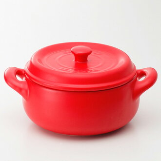 "Heat-resistant ceramic pot ""Jackpot"" 18 cm (red)"