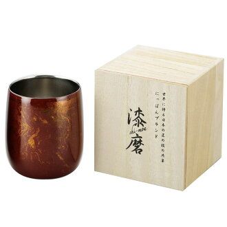 【Japan】Lacquerware style Dual structure stainless cup (250ml)Red