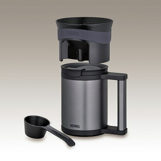 Mug of thermos a vacuum insulating keeping-warm office mug & Coffee dripper(Black)