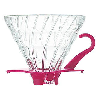 Hario V60 heat-resistant glass transparent Dripper (Pink) v60 transmission Dripper 02 / cone / coffee / Dripper /hario