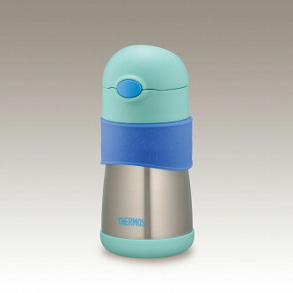 Thermos vacuum insulated baby straw bottles (stainless steel insulated bottle) blue (FFH-290ST/BL) vacuum insulated mobile straw bottle (water bottle thermos insulated straight drinking milk for children)