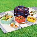 サーモス ファミリー フレッシュランチボックス 3920ml 保冷バッグ付き DJF-4002/BLBD ブルーボーダ