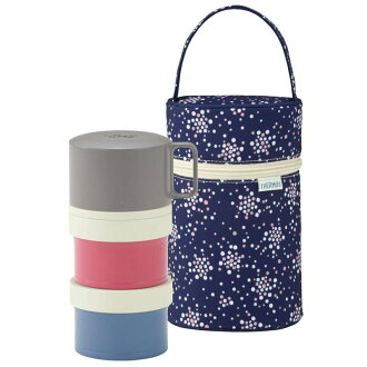 Thermos 3-type insulated lunch box 580 ml Navy (DJL-580/NVY)
