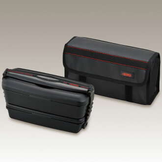 Fresh lunch box thermos (two-stage formula insulated lunchbox ) 900 ml black (903 W/BK DJB-)