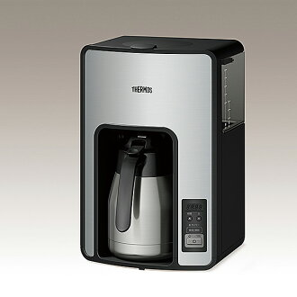 Warm thermos vacuum insulated pot coffee maker ( ECH-1000 ) / clear / stainless steel