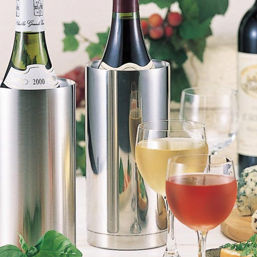 Two folds of stainless steel wine cooler slim mirror fs3gm