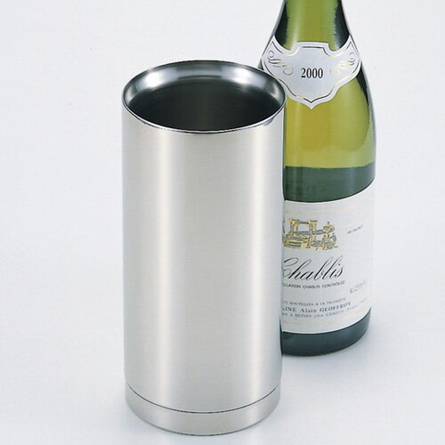 Slim stainless steel double wine cooler satin fs3gm