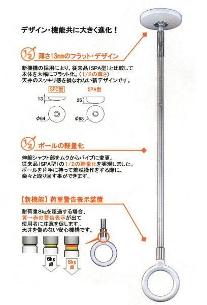 ホスクリーンSPC型(ロングサイズ・2本セット)従来型(SPA型)よりデザイン・機能共に大きく進化!お洗濯はもちろん、日常生活を便利にするベストパートナー