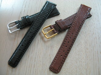 High-quality lizard (lizard) leather clock band