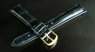 The finest crocodile leather watch straps and bamboo marks black 18 mm -14 mm tail lock? s oil matte finish.""