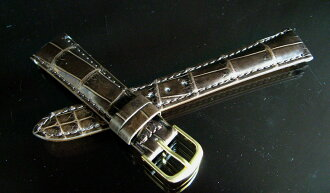 The finest crocodile leather watch straps and bamboo Mark Brown 18 mm -14 mm tail lock? s oil matte finish.""