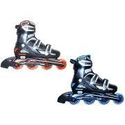 【クーポンあり】【送料無料】Calipro インラインスケート NLS122 アジャスタブルタイプ 24cm〜27cm サイズ調整式のインラインスケート。