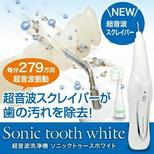 【送料無料】【あす楽】電動歯ブラシ 電動音波歯ブラシ ソニックトゥースホワイト 超音波歯ブラシ