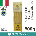 《アルチェネロ》イタリアンオーガニックデュラムセモリナスパゲッティ【500g】