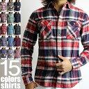 チェック ネルシャツ チェックネルシャツ チェックシャツ メンズ
