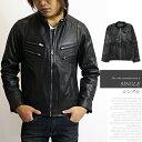 デザイン本革 レザージャケット《全4種類》革ジャン 皮ジャン シングル ライダース ライダースジャケット men's メンズ Progre OUTER アウター jacket ジャケット leather レザー