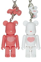 Happy BE@RBRICK INTERNATIONAL LOVE HEART(ピンク/ホワイト)