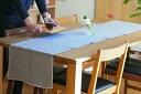 リネンテイルズ ヴィンテージコレクション フリンジ テーブルランナー ライトグレー 40×200 / Linen Tales