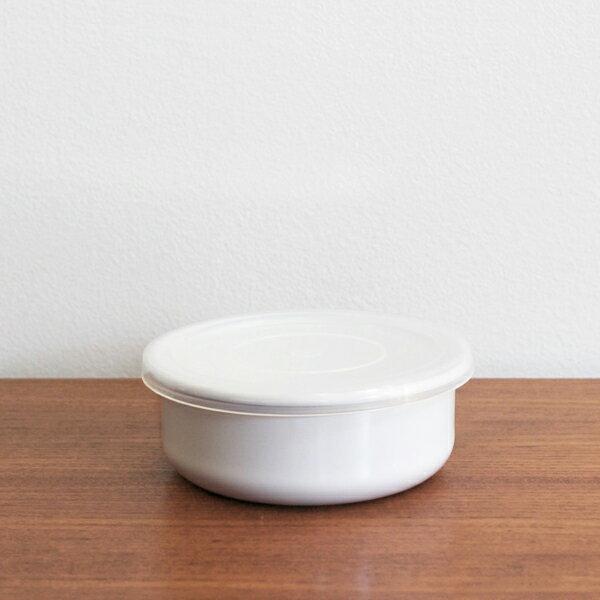 野田琺瑯 ホワイトシリーズ ラウンド 12cm