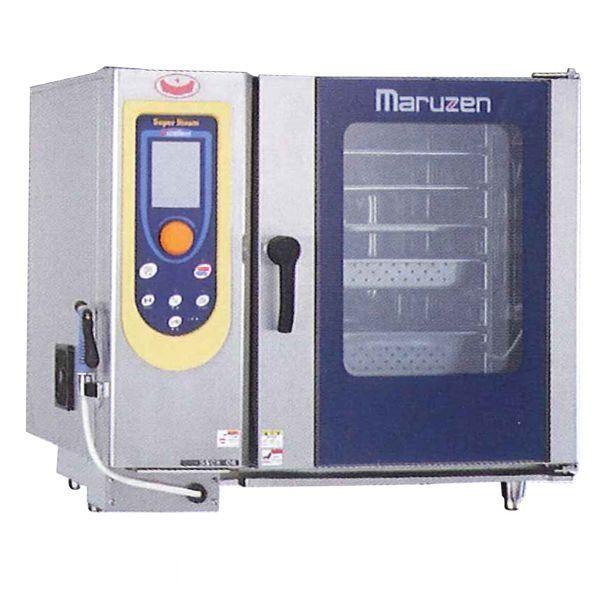 マルゼン スチームコンベクションオーブン(スーパースチーム) SSCX-P06TNU ハンドシャワー巻き取り式 芯温センサー3本仕様 パススルータイプ