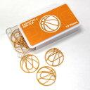 カラーゼムクリップ バスケットボール[500円 1ケース10...