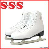 我們支持自由邊緣拋光 - 確保安全和停止! - 高中學校(三埃蘇)植物的SET - 46跳頻- 1200數字滑冰[SSS(サンエス) フローラ SET-46 FH-1200 フィギュアスケート靴(UPSK)]