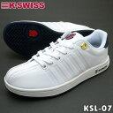 ケースイス スニーカー ホワイト/ネイビー K-SWISS KSL 07 ユニセックス ローカット 【送料無料】【ラッキーシール対応】