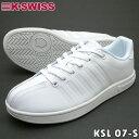 K-SWISS ケースイス KSL 07-S ホワイト ユニセックス ローカット スニーカー 通学スクールシューズ【ラッキーシール対応】