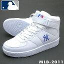 ニューヨーク ヤンキース ホワイト ユニセックスハイカットスニーカー