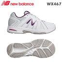 【送料無料】ニューバランス スニーカー WX467 ホワイト/パープル(WP)靴幅:2Eフィットネス、テニス