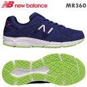 NBニューバランス スニーカー MR360ブルー/イエロー(BY5)靴幅:2Eメンズジョギングランニングシューズ