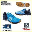 ショッピングバドミントンシューズ WILSON (ウィルソン) バドミントン シューズ ヴェルテックス ハワイアンサーフ×ネイビーブレザー×アシッドライム VERTEX WRS324660U
