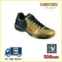 [楽天市場] WILSON (ウィルソン) バドミントン シューズ  ヴェルテックス・マットゴールド VERTEX Mat Gold WRS318500